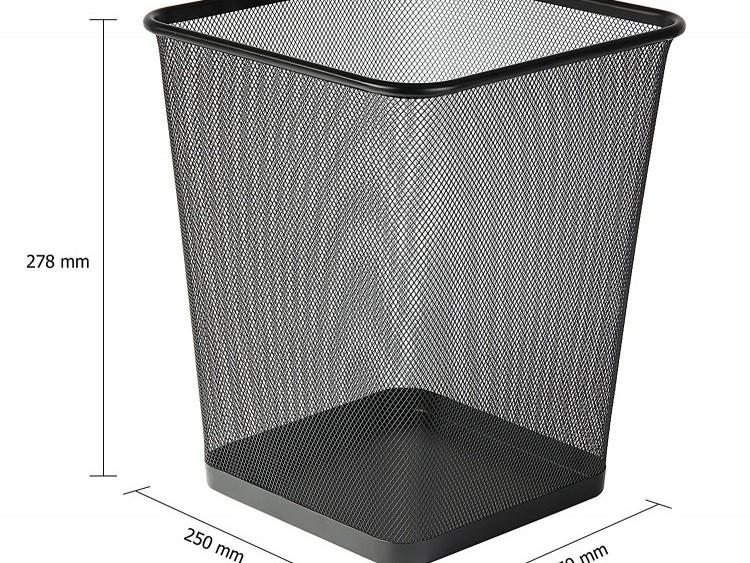 Corbeille à papier Grand Modèle carré